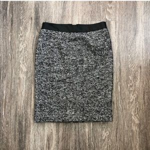 Boden | B&W Straight Tweed Career Skirt